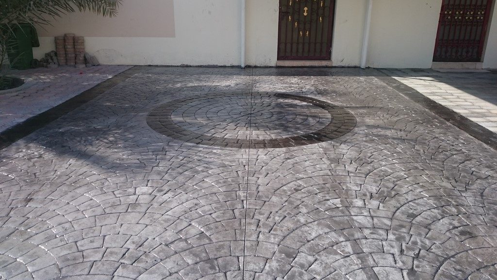 stamped concrete At MAWALEH